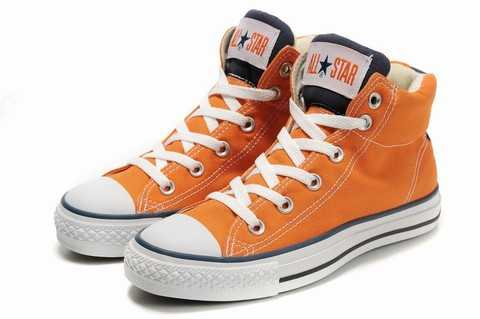 converse femme orange